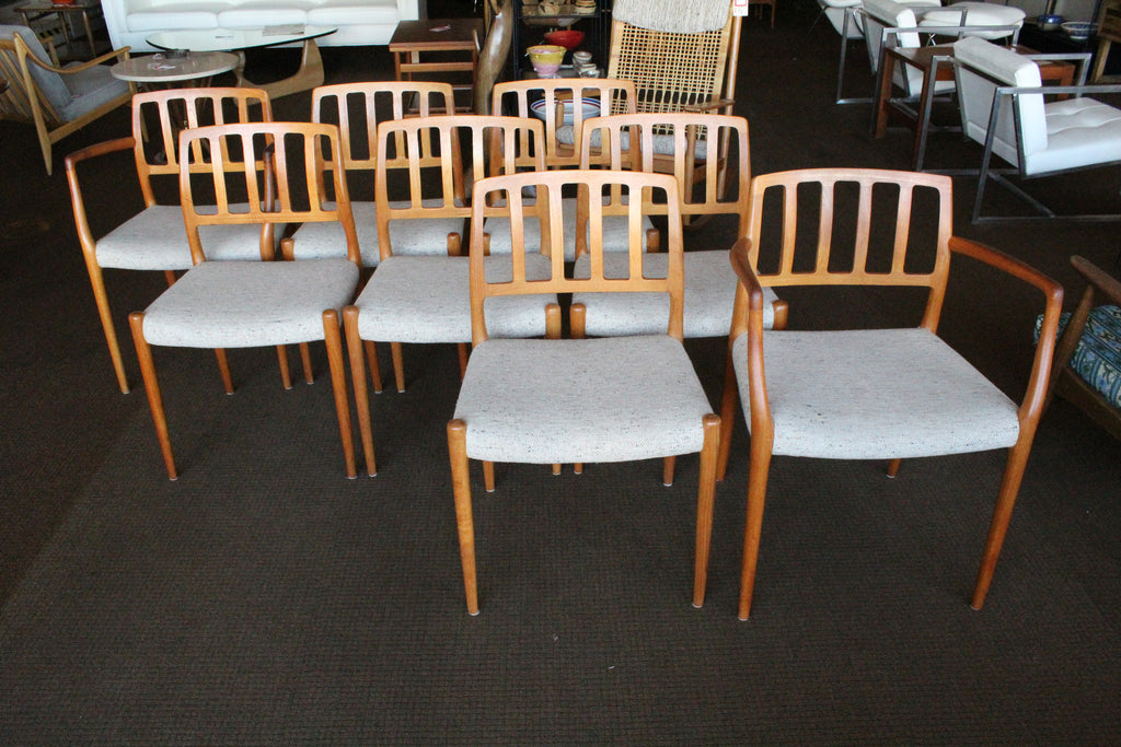 ... Niels Moller Danish Teak Dining Chairs   Set 8 ...