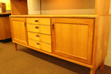 Danish Teak & Rosewood Credenza With Lighted Hutch