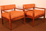 Adrian Pearsall for Craft Associates #834-C Lounge Chairs- Pair