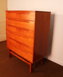 Danish Teak High-Boy Dresser by Nils Jonsson for Hjn Mobler