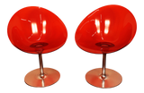 Kartell Opaque Red Chairs - A Pair