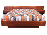 Rosewood Queen Platform Bed w/ Nightstands