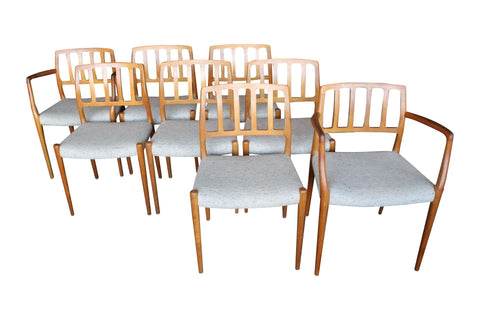 Niels Moller Danish Teak Dining Chairs - Set 8