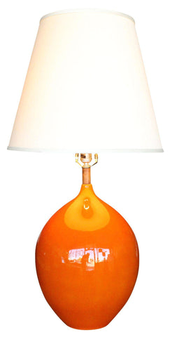Orange Ceramic Danish Modern Lamp