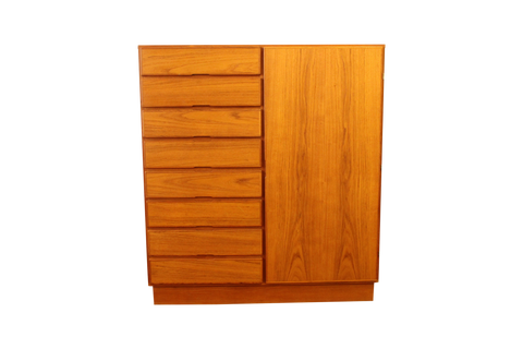 Danish Modern Teak Gentleman's Chest Dresser