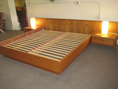Teak And Rosewood Platform Bed Metro Eclectic