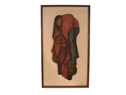 Witco-Style Framed Abstract Mid Century