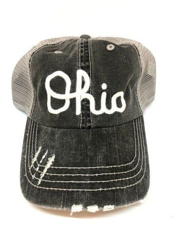 OHIO SCRIPT TRUCKER HATS