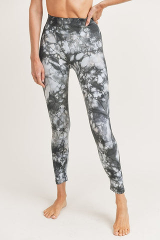 MARBLED SEAMLESS HIGH-WAIST LEGGINGS
