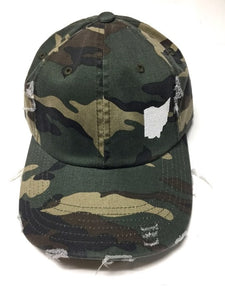 OHIO DISTRESSED CAMO HAT