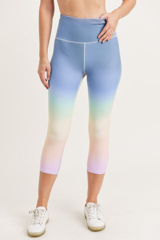 RAINBOW CAPRI HIGH-WAIST LEGGINGS