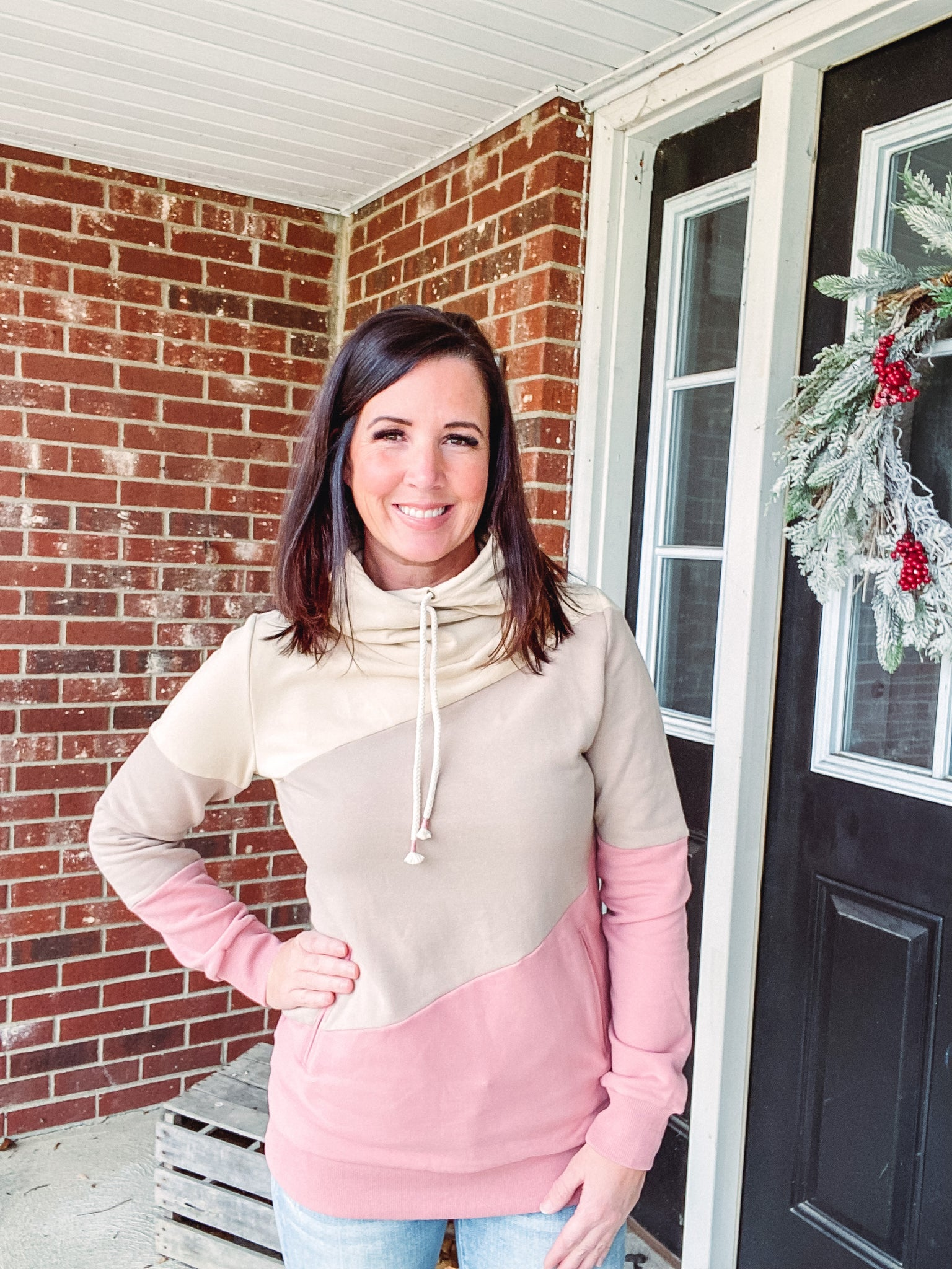 FRINGE MOCHA SWEATER
