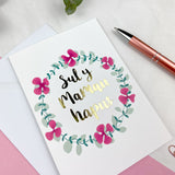 Mother's day card 'Sul y Mamau hapus' gold foil