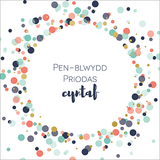 Welsh first anniversary card 'Pen-blwydd priodas cyntaf' cerdyn pen-blwydd priodas Cymraeg - Draenog