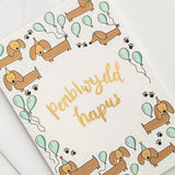 Set of birthday cards - Hwyl a Sbri Dachshund Collection