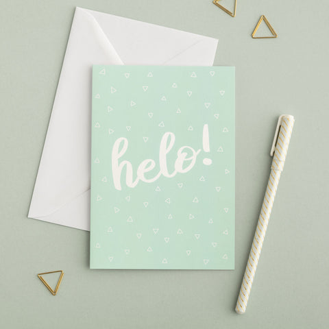 Welsh card 'Helo!' Hello!