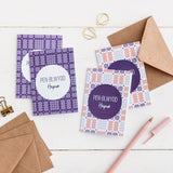 Birthday cards 'Pen-blwydd Hapus' pack of 4 mini cards - Welsh tapestry