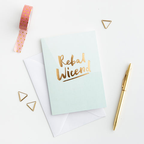 Rebal Wicend Welsh gold foil card
