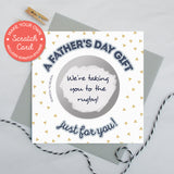 Scratch card 'A Father's day gift just for you!'