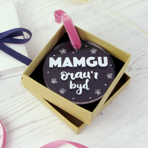 'Mamgu orau'r byd' Decoration for Gran
