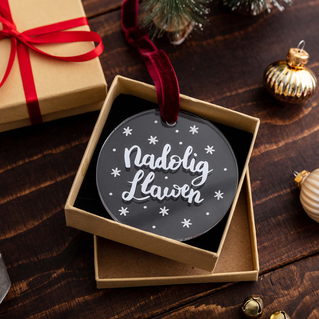 Welsh Christmas Decoration 'Nadolig Llawen'