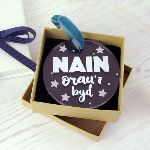'Nain orau'r byd' Decoration for Gran