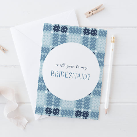 Bridesmaid card - Alys