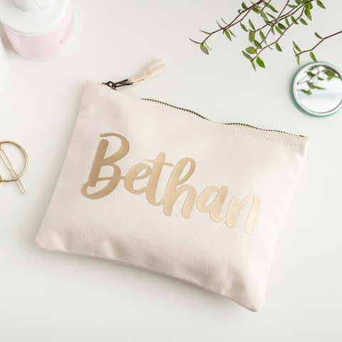 Personalised Cotton Bag - Gold