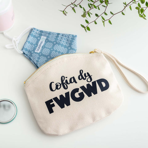 Cotton Mask Bag 'Cofia dy Fwgwd'