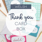 Box of 10, 15 or 20 Welsh thank you cards