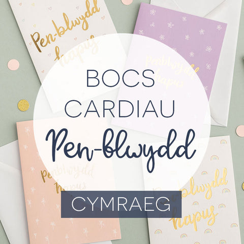 Box of 10, 15 or 20 Welsh birthday cards