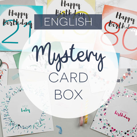 Mystery box of 10, 15 or 20 cards - English language