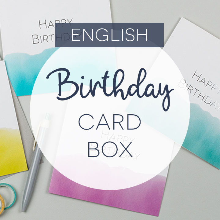 Box of 10, 15 or 20 birthday cards - English language