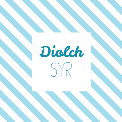 Thank you teacher card 'Diolch Syr' - Draenog