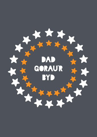 Father's Day card 'Dad Gorau'r Byd' - Draenog