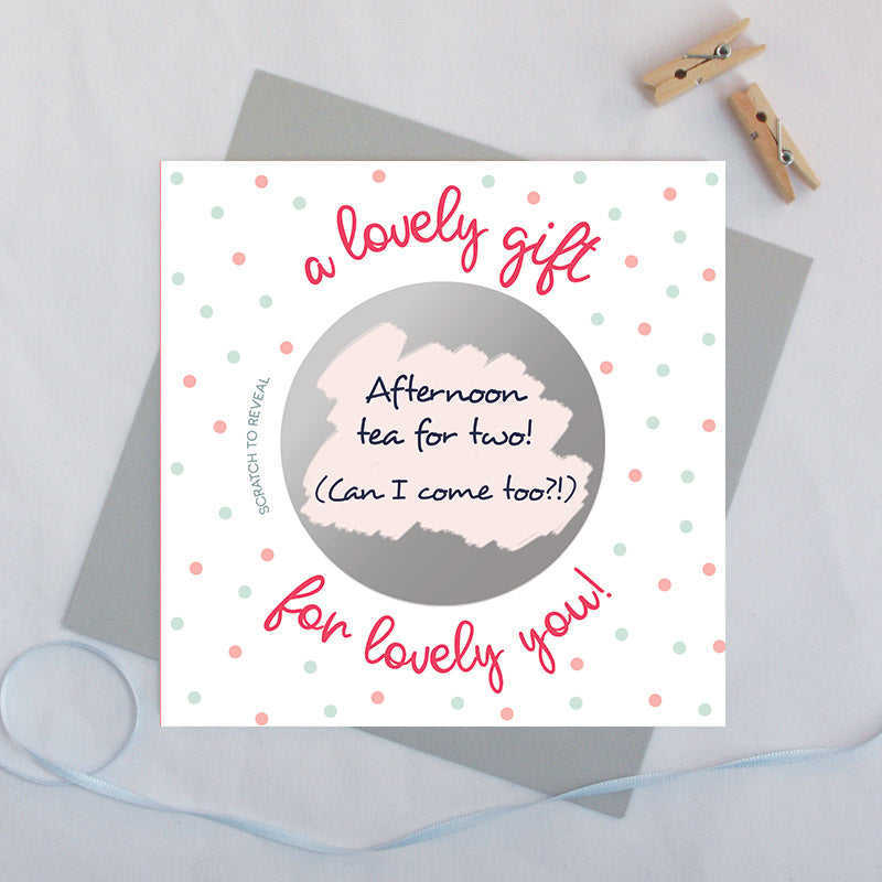 Secret message scratch card 'a lovely gift for lovely you!'