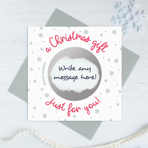 Secret message scratch card 'a Christmas gift just for you!'