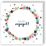 You're engaged gold foil card - Draenog