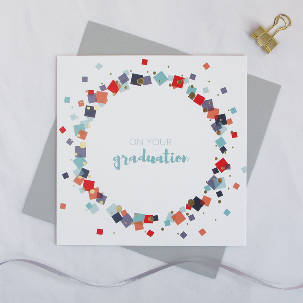 On your graduation gold foil card - Draenog