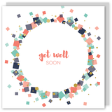 Get well soon gold foil card - Draenog