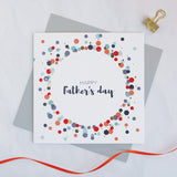Happy Father's Day gold foil card - Draenog