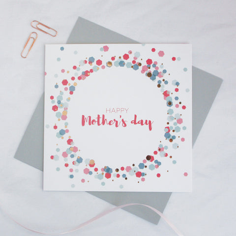 Happy Mother's Day copper foil card - Draenog