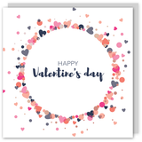 Happy Valentine's day copper foil card - Draenog