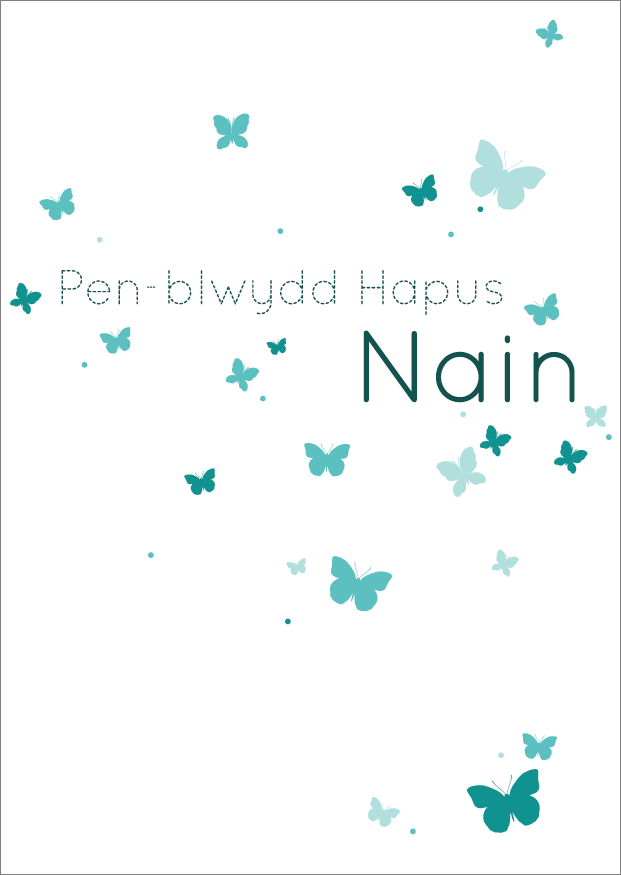 Birthday card 'Pen-blwydd Hapus Nain' grandmother - Draenog
