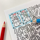 FREE Welsh downloadable colouring page - Christmas