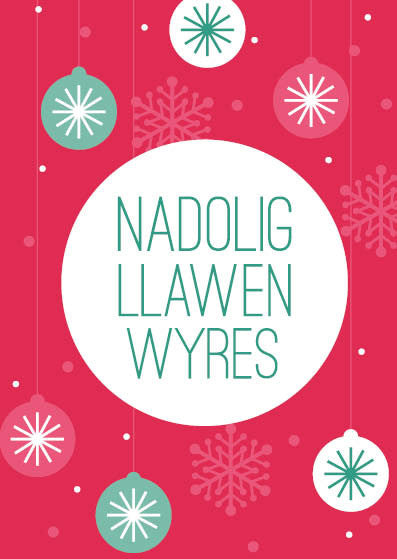 Christmas card 'Nadolig Llawen Wyres' Grand daughter - Draenog