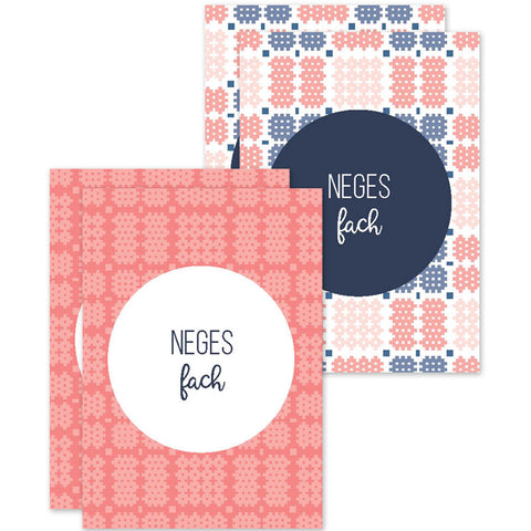 Note cards 'Neges fach' pack of 4 mini cards - Welsh tapestry