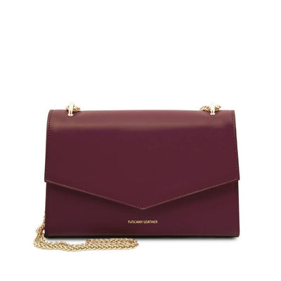 Fortuna Leather Clutch - Bordeaux. Genuine Italian Leather.