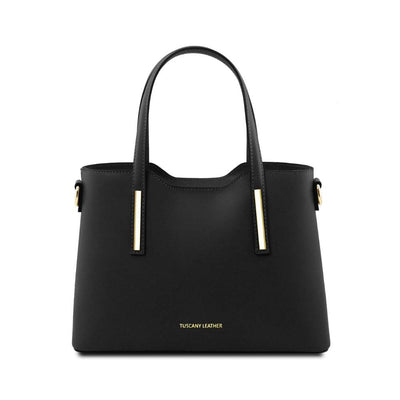 Olimpia Leather Tote Black