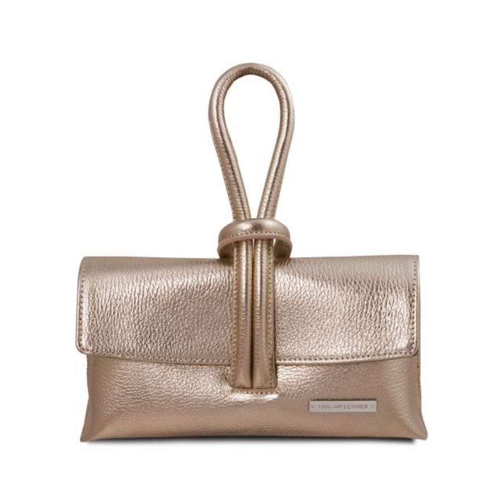 TL141993 Gold Knot Metallic Clutch
